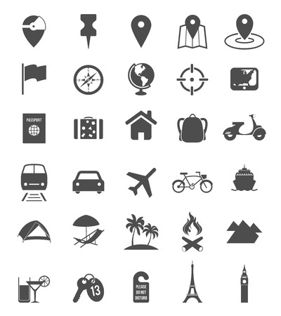 Illustration pour Travel icons - image libre de droit