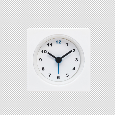 Photo for White modern,minimal clock.clipping paths - Royalty Free Image