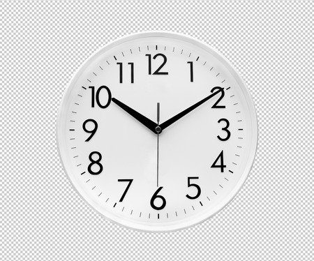 Photo for White simple modern,minimal clock.clipping paths - Royalty Free Image