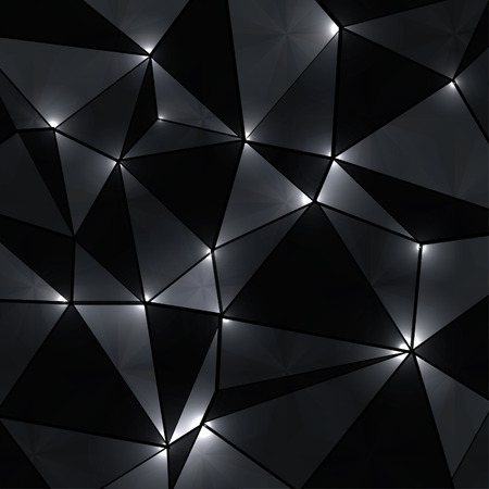 Illustration pour Abstract geometric background with perspective shiny lights. - image libre de droit
