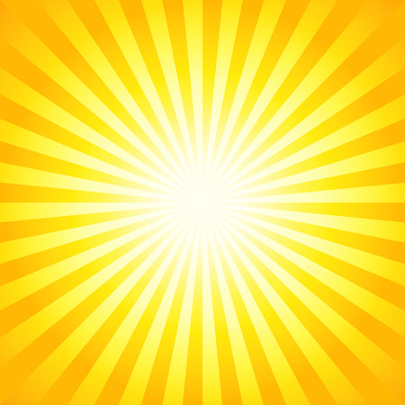 Illustration pour Bright sunbeams, shiny summer background with vibrant yellow  orange colors. Perfect light striped background. - image libre de droit