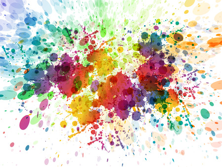 Illustration pour Abstract color splash, watercolor background illustration - image libre de droit