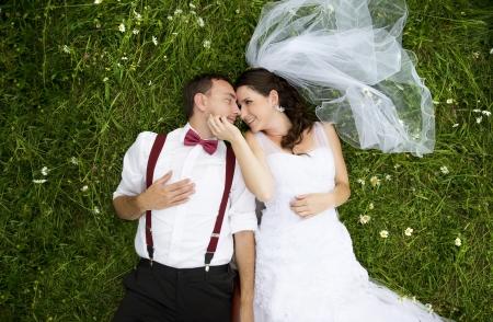 Photo pour Wedding portraits - image libre de droit
