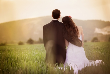 Photo pour Wedding portraits - image libre de droit