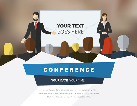 Illustration pour Conference template illustration with space for your texts - image libre de droit