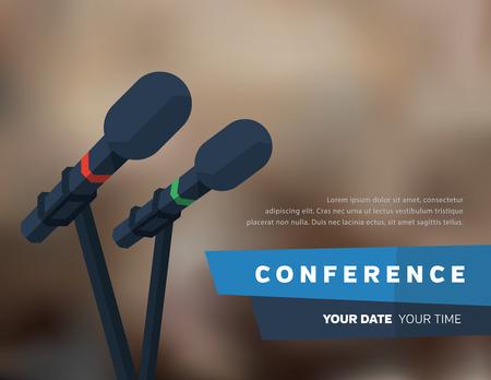 Ilustración de Conference template illustration with space for your texts - Imagen libre de derechos