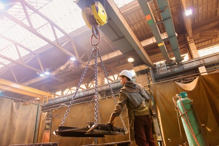 Foto de Welder in factory - Imagen libre de derechos