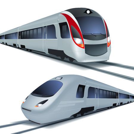 Ilustración de Modern high speed trains - Imagen libre de derechos
