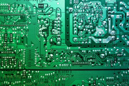 Foto de Macro shot of the back side of a circuit board - Imagen libre de derechos