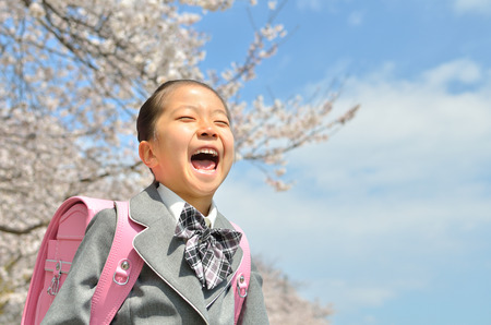 The first grade girl (cherry blossom)