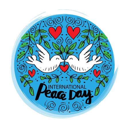 Illustration pour International Peace Day Card - image libre de droit