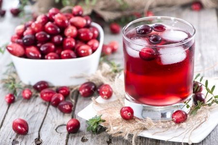 Photo for Chilled Cranberry Juice in a glass - Royalty Free Image