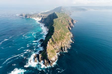 Foto de Cape Point (South Africa) aerial view shot from a helicopter - Imagen libre de derechos