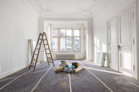 Photo for renovation - old flat during  restoration / refurbishment - Royalty Free Image