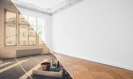 Foto de flat renovation, apartment refurbishment, room modernization - Imagen libre de derechos