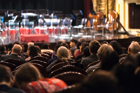 Photo for Audience watching concert show in the theater - Royalty Free Image