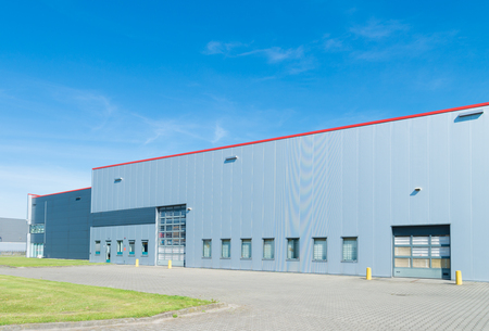 Photo for exterior of a large modern warehouse in the netherlands - Royalty Free Image
