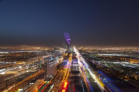 Photo for Riyadh skyline at night - Royalty Free Image