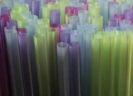Photo pour A close up of drinking straws - image libre de droit