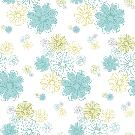 Illustration for Seamless flowers pattern, cute floral texture, vector illustration. - Royalty Free Image