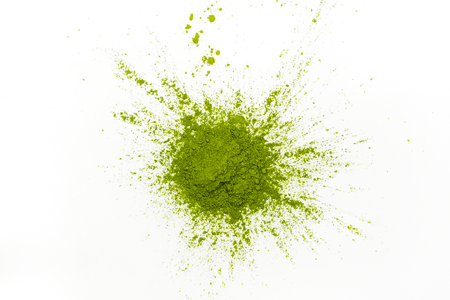 Foto de Green matcha tea powder - Imagen libre de derechos