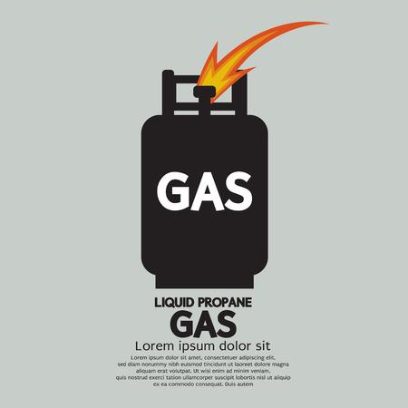 Illustration pour Liquid Propane Gas Vector Illustration - image libre de droit