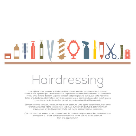 Illustration for Hairdressing Icons Set  - Royalty Free Image