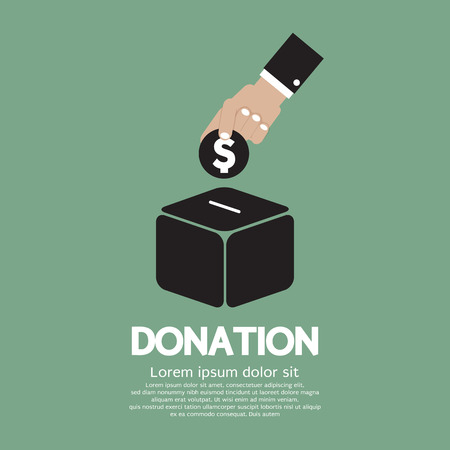 Illustration for Donate Money To Charity Concept Vector Illustration - Royalty Free Image
