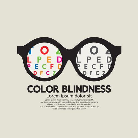 Ilustración de Color Blindness Concept Vector Illustration - Imagen libre de derechos