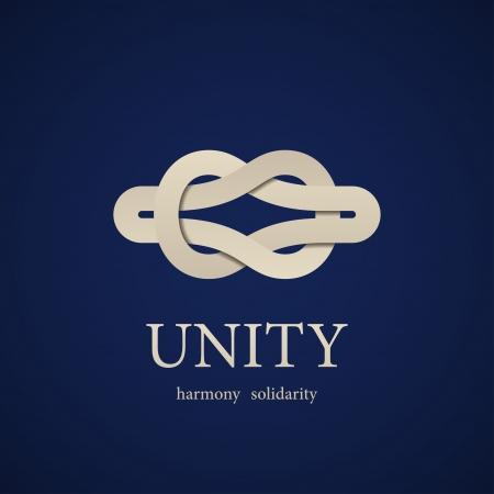 Illustration pour vector unity knot symbol design template - image libre de droit