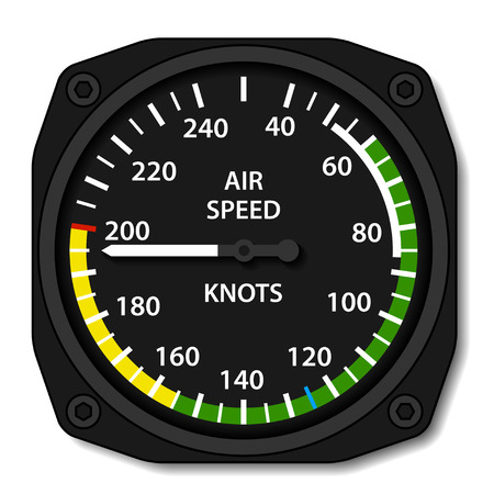 Illustration pour vector aviation aircraft airspeed indicator - image libre de droit