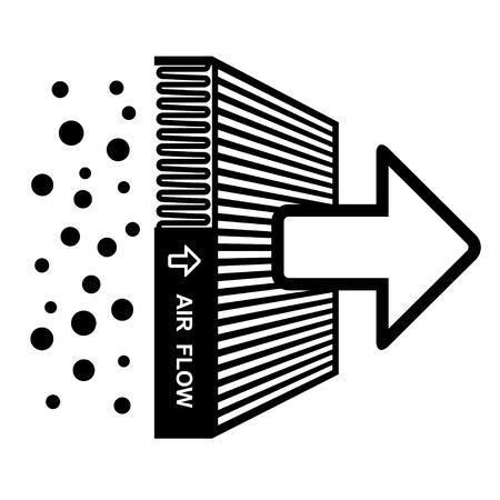 Illustration pour vector air filter effect symbol - image libre de droit