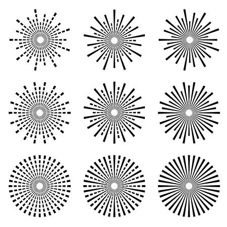 Ilustración de vector starbursts black symbols - Imagen libre de derechos