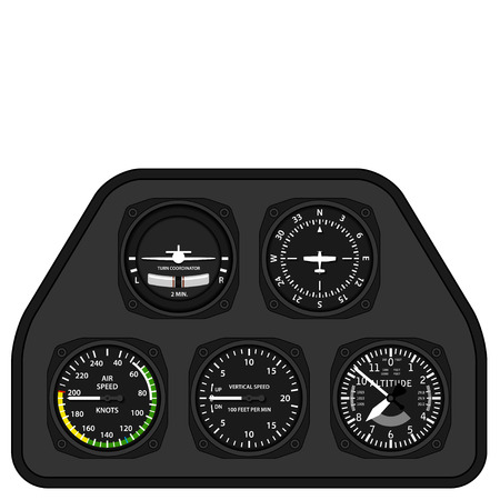 Illustration pour vector aviation airplane glider dashboard - image libre de droit