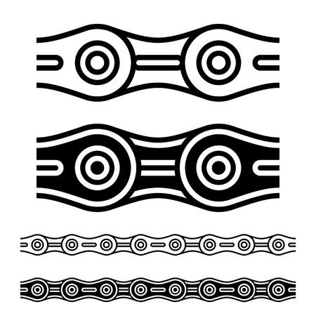 Illustration pour vector bicycle chain seamless silhouettes - image libre de droit
