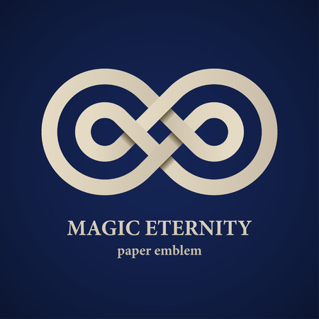 Illustration pour vector abstract magic eternity paper emblem - image libre de droit