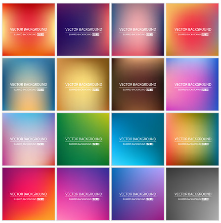 Illustration pour Abstract Creative concept vector multicolored blurred background set. For Web and Mobile Applications, art illustration template design, business infographic and social media, modern decoration. - image libre de droit