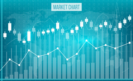 Illustration pour Creative vector illustration of business data financial charts. Finance diagram art design. Growing, falling market stock analysis graphics set. Concept graphic report element. Profit summary tools. - image libre de droit