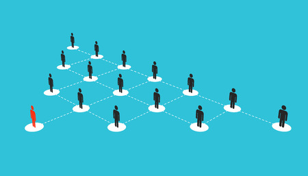Photo pour Abstract creative illustration of growing connecting people social network scheme isolated on background. Company corporate department team. Art design diagram concept structure. - image libre de droit