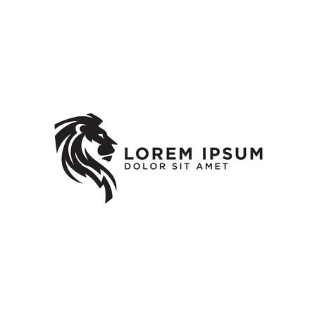 Illustration pour Illustration of elegant lion logo design template vector - image libre de droit