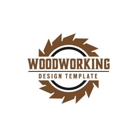 Illustration pour Woodworking gear logo design template vector element isolated - image libre de droit