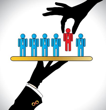 Illustration pour Making the Best Choice or Choosing the best Candidate   Concept Illustration - image libre de droit