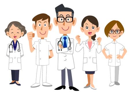 Illustration pour Doctors team - image libre de droit