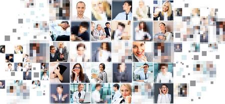 Photo pour Collection of different people portraits - image libre de droit