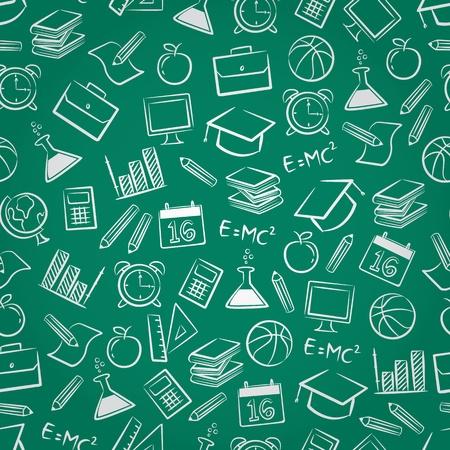 Photo pour schol seamless pattern - image libre de droit