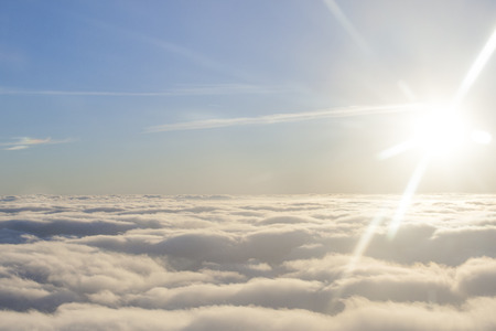 Photo for high above the sun and clouds - Royalty Free Image