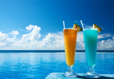 Photo for Cocktails near the swimming pool - Royalty Free Image