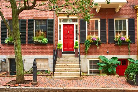 Photo for Street at  Beacon Hill neighborhood, Boston, USA. - Royalty Free Image
