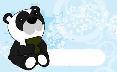 Ilustración de Cute little baby panda bear cartoon background in vector format very easy to edit - Imagen libre de derechos