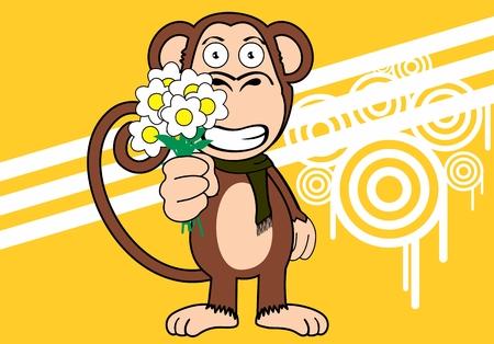 Ilustración de funny monkey expression cartoon in vector format very easy to edit - Imagen libre de derechos